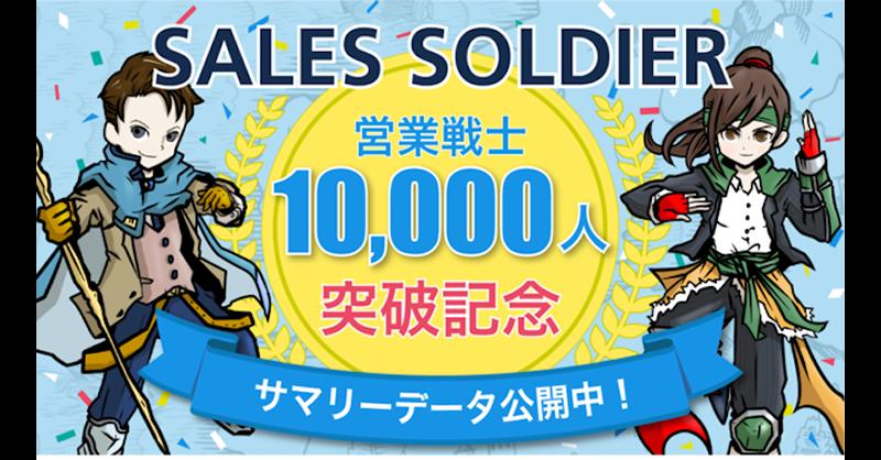 1分でわかる営業タイプ診断「SALES SOLDIER(セールスソルジャー)」 利用者1万人の診断結果を公開!